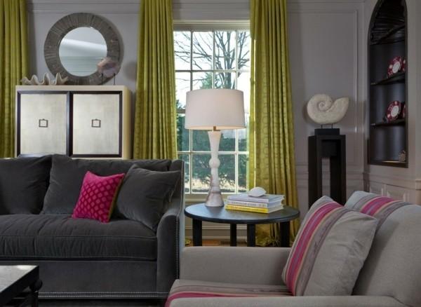Décoration de salon moderne en vert et gris – 20 exemples ...