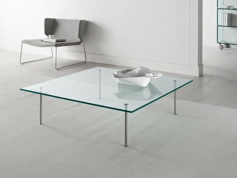 table basse en verre acier