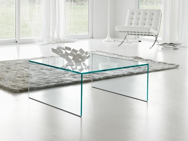 table basse en verre forme carree