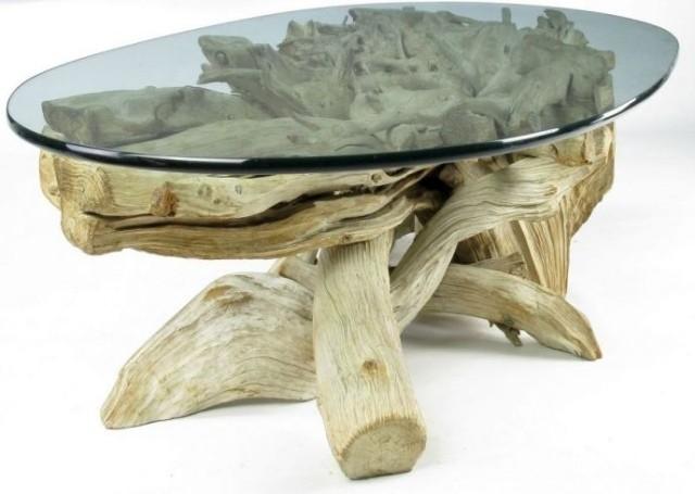 table-basse-en-verre-idée-originale-salon-support-bois