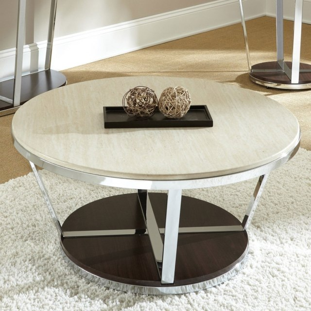 table-basse-ronde-idée-originale-acier-inoxydable