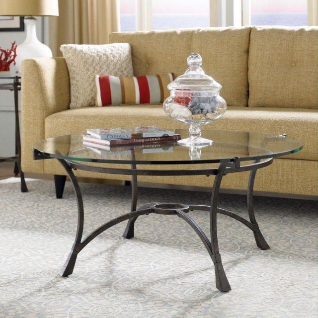 table-basse-ronde-idée-originale-métal-verre-canapé