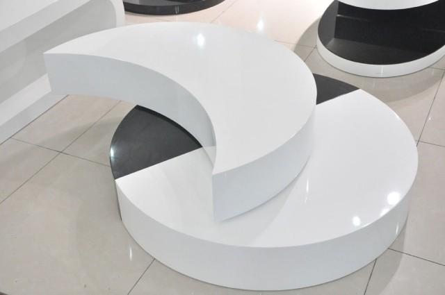 table-basse-ronde-idée-originale-noir-blanche