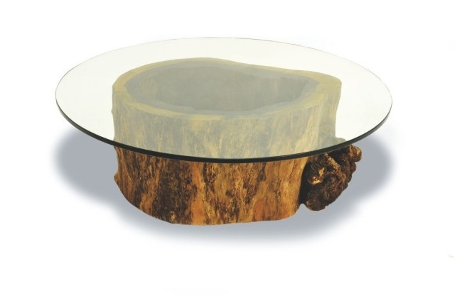 table-basse-ronde-idée-originale-surface-verre-support-bois
