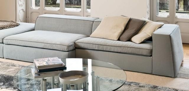 table basse ronde idée-originale-verre-acier-inoxydable