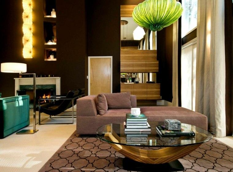 table basse ronde bois decoration moderne