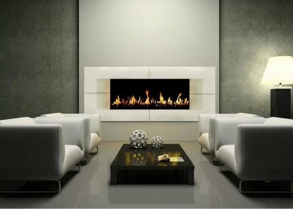 cheminée éthanol vedette salon minimaliste