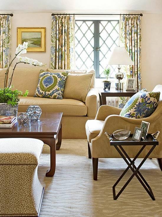 décoration salon motifs loraux