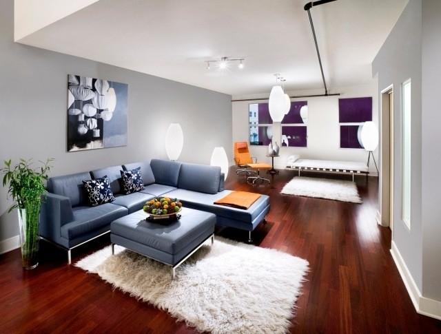 meubles-contemporains-idée-originale-canapé-angle-couleur-rouge
