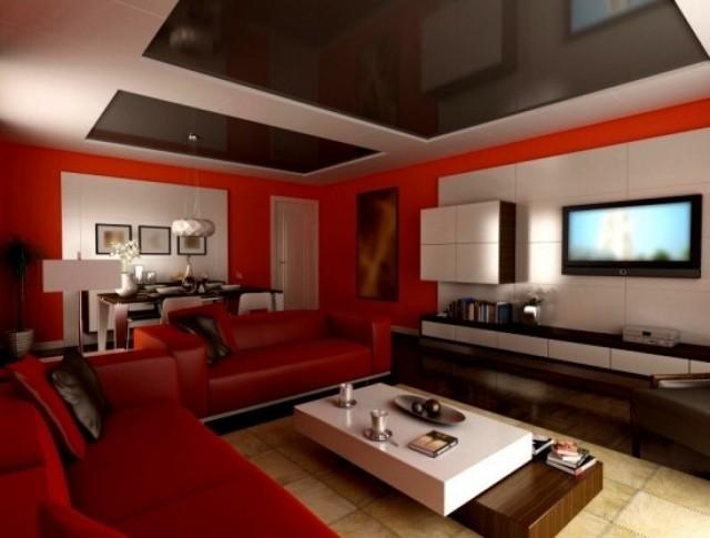meubles-contemporains-idée-originale-canapé-couleur-rouge-salon-table-basse