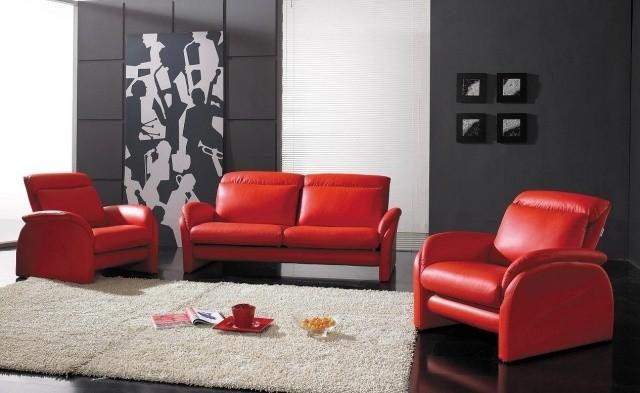 meubles-contemporains-idée-originale-canapé-fauteuil-couleur-rouge