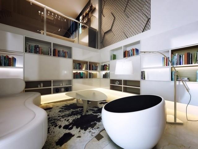 meubles contemporains idée-originale-table-basse-canapé-blanc