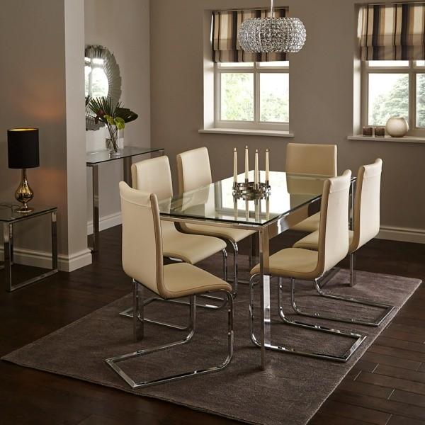 table en verre elegante john lewis
