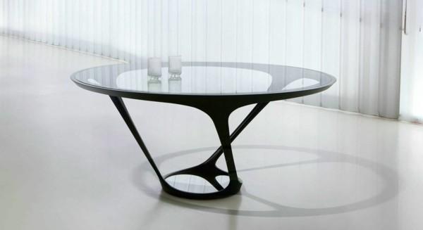 table en verre moderne les contemporains