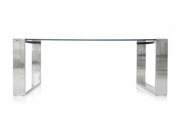 table moderne verre metal modani