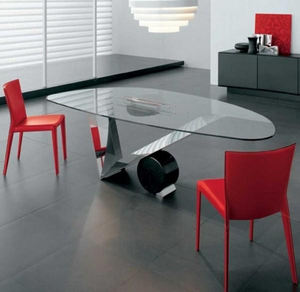 table verre design contemporain
