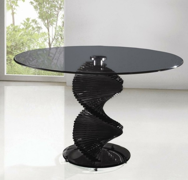 table verre noir first furniture