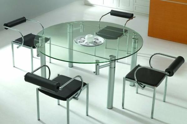 table verre ronde eclipseglass