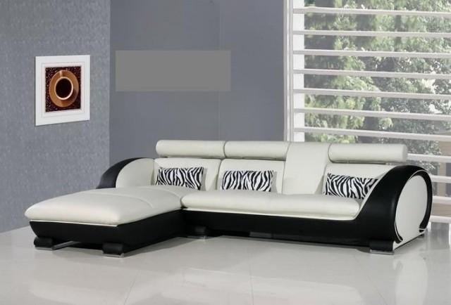 canapé-blanc-noir-salon-confort-complet-idée-originale