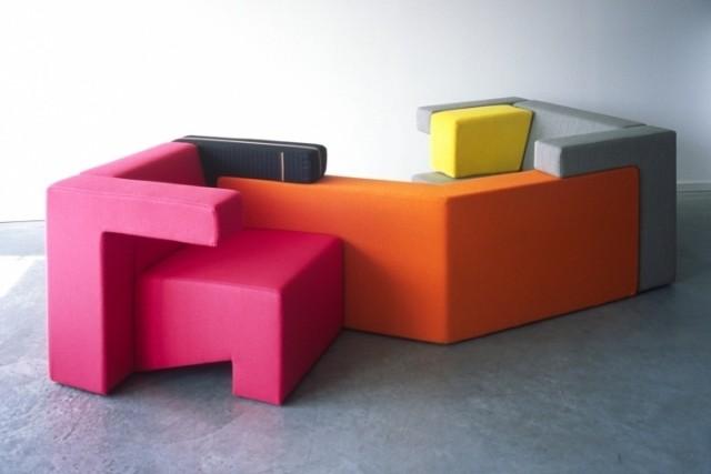canapé-chaise-salon-confort-complet-idée-originale-couleur-orange-cyclamen-jaune-gris