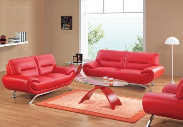 canapé-cuir-rouge-table-basse-ovale-tapis-rectangulaire-salon-confort-complet-idée-originale