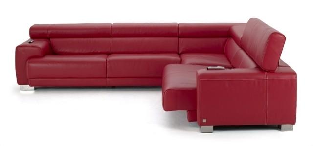 canapé-d`angle-salon-confort-complet-idée-originale-cuir-rouge