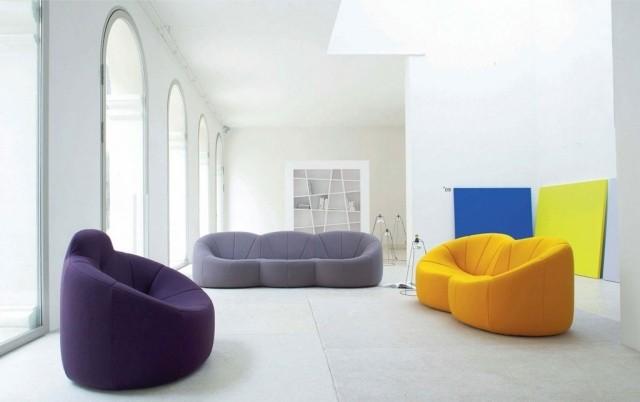 canapé-fauteuil-jaune-grise-violet-salon-confort-complet-idée-originale