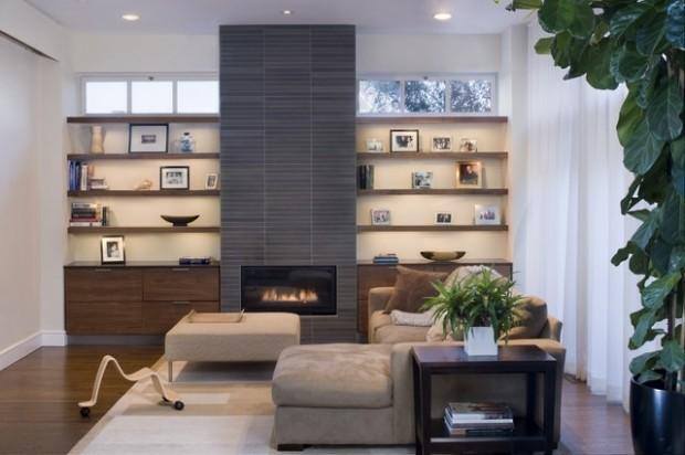 deco design salon cheminee