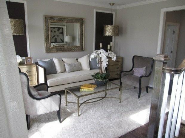 decoration elegante petit salon moderne