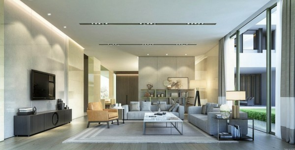 salon design contemporain idee