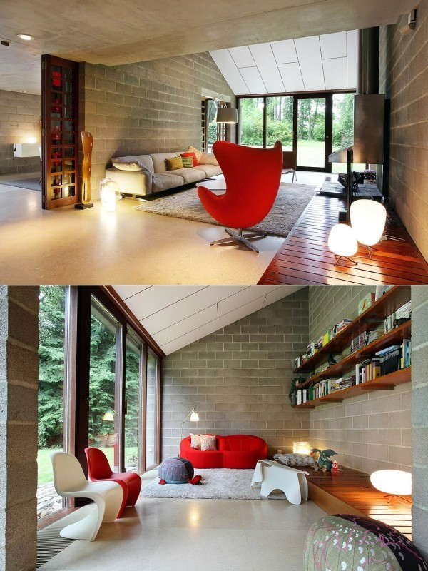 séjour moderne couleurs chaleureuses