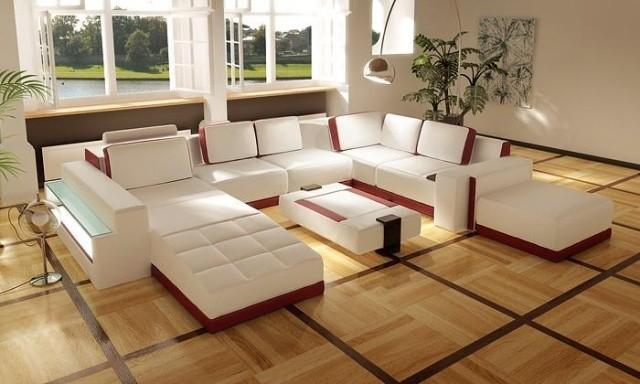 aménagement-de-salon-meubles-modernes-canape-ensemble-blanc-rouge-meridienne