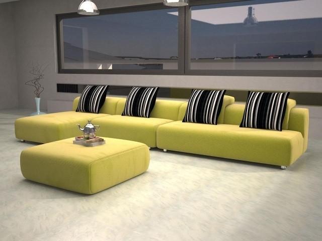 aménagement-de-salon-meubles-modernes-canape-ensemble-couleur-jaune-ottomane