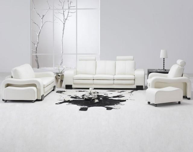 aménagement-de-salon-meubles-modernes-canape-ensemble-cuir-couleur-blanche