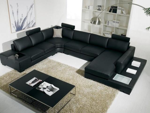 aménagement-de-salon-meubles-modernes-canape-noir-table-basse