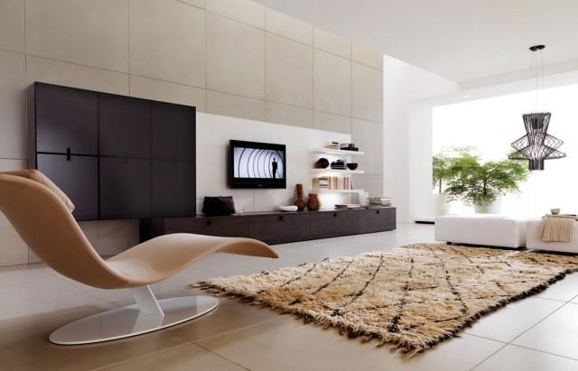aménagement-de-salon-meubles-modernes-chaise-tout-confort-couleur-marron