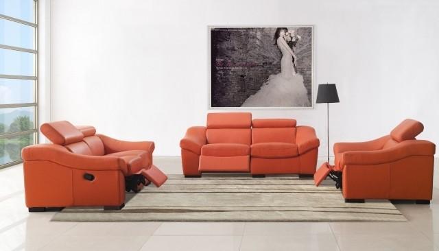 aménagement-de-salon-meubles-modernes-couleur-orange-canape-ensemble