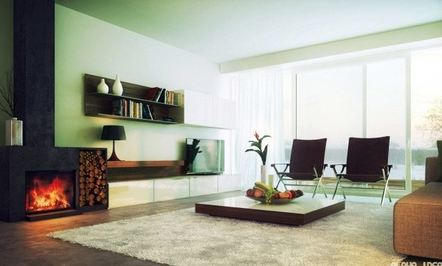 aménagement-de-salon-meubles-modernes-table-moderne-carree