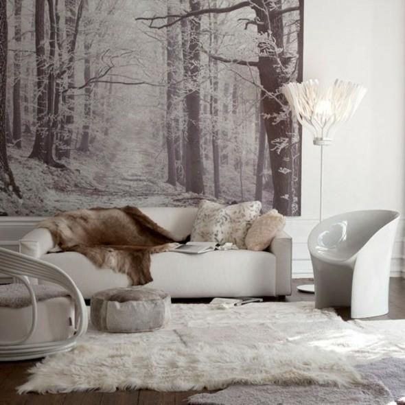 déco salon chaleureux blanc