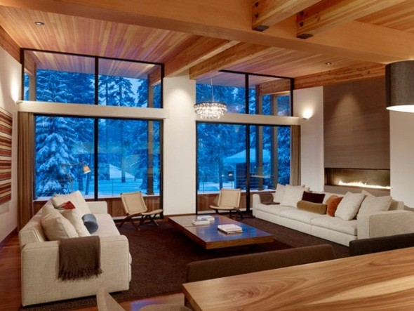 decoration salon bois moderne