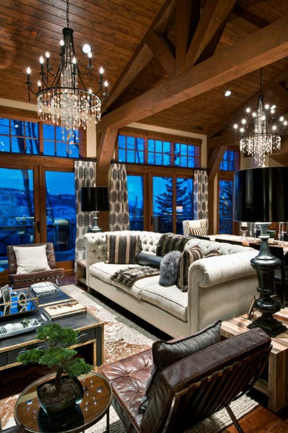 salon deco elegante moderne