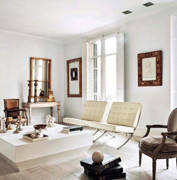 salon deco moderne blanc