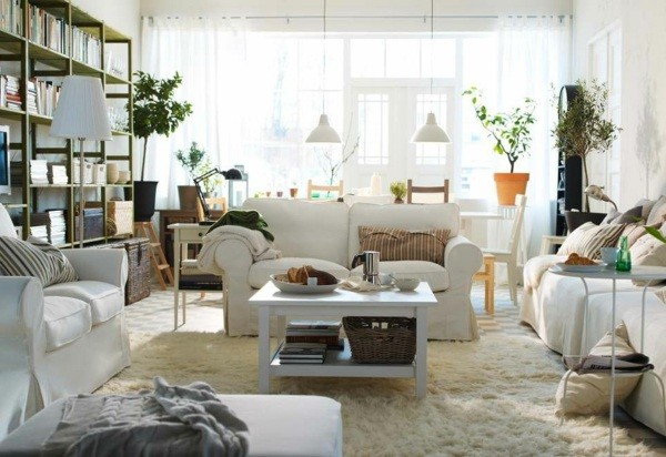 deco chaleureuse salon Ikea