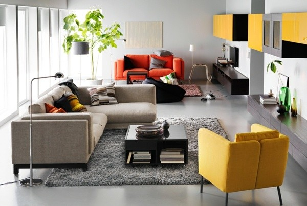 deco salon meubles colores Ikea