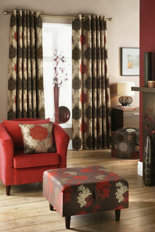 idee deco salon rideaux modernes