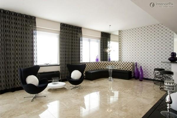 rideaux design salon moderne