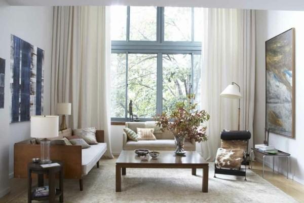rideaux pour salon nuances claires
