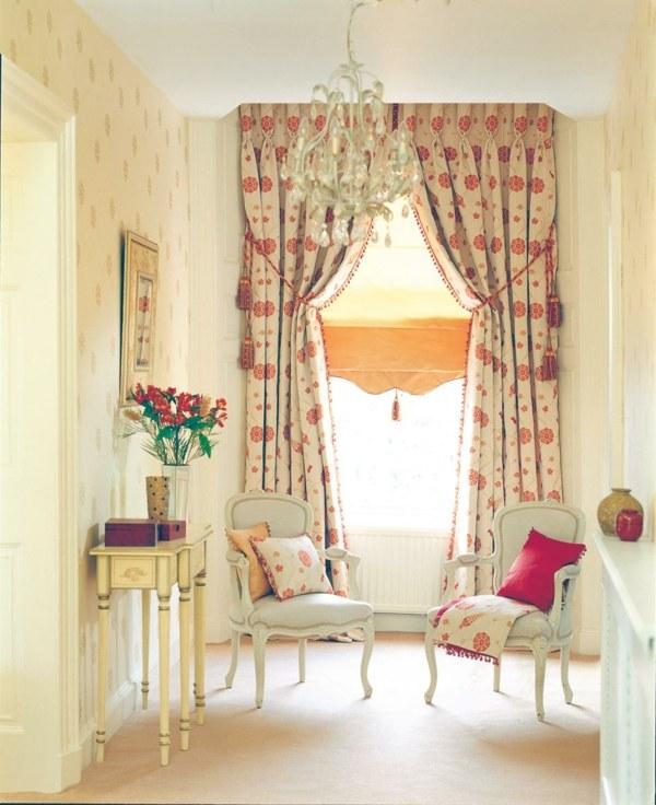 rideaux salon moderne motifs floraux