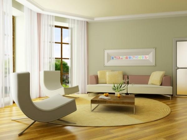 rideaux voilage salon moderne