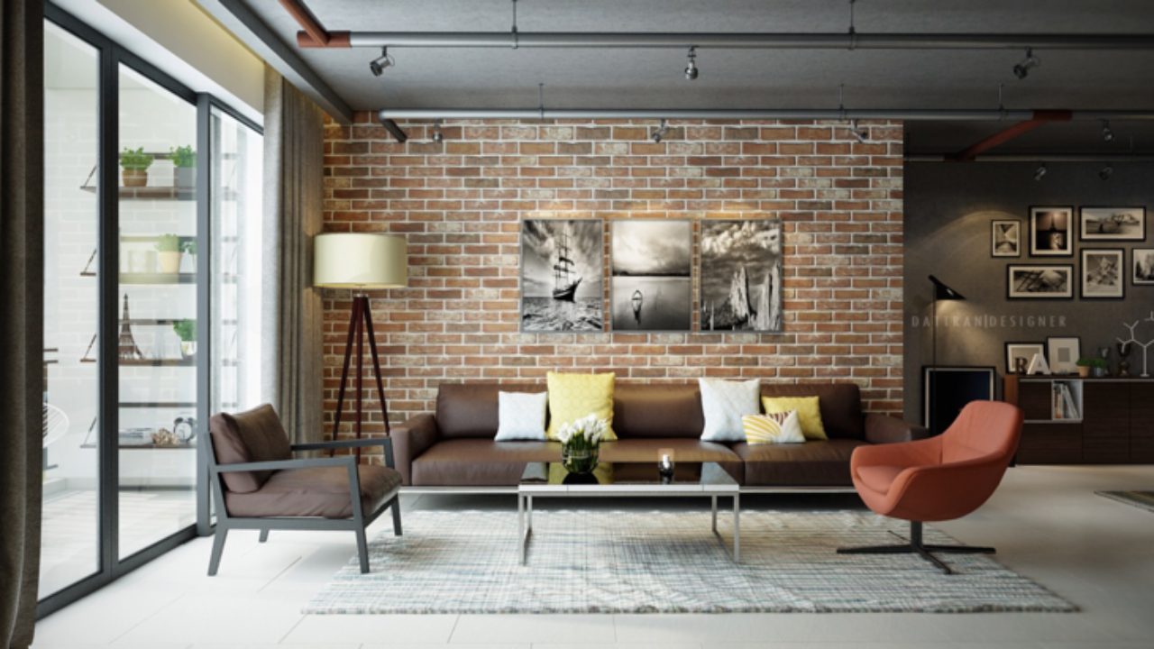 Idee Deco Pierre De Parement Interieur le salon en brique rouge stylisé en 35 exemples à vous faire
